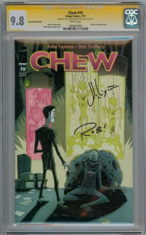 Chew #19 Glow In Dark Variant CGC 9.8 Signature Series Signed John Layman Rob Guillory Image comic